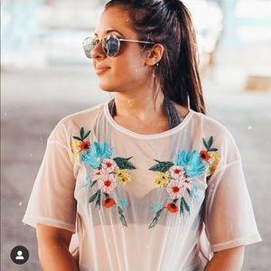 Zara Mesh Tee shirt